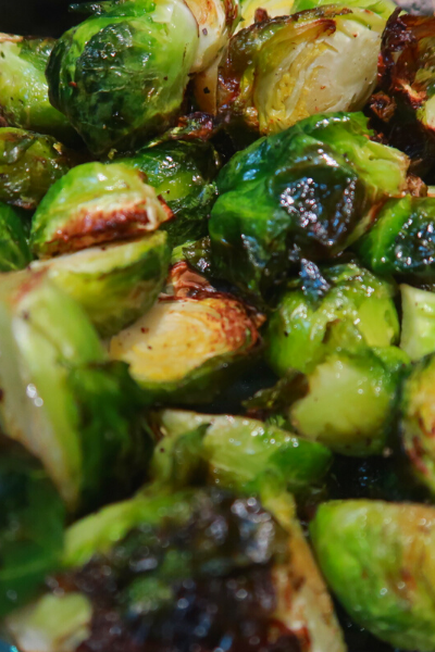 A recipe for air fryer brussel sprouts